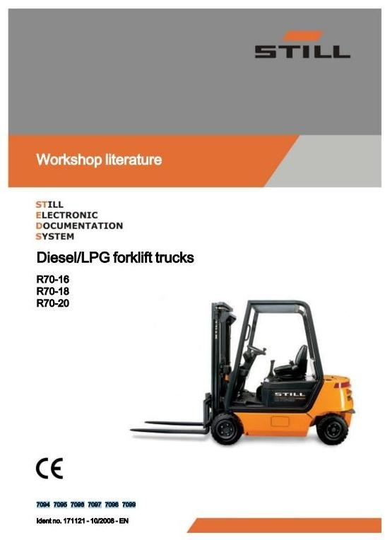 Still IC-Engined Fork Truck R70-16, R70-18, R70-20 Series: R7094-R7099 Workshop Manual