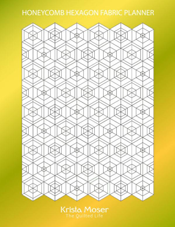 Honeycomb Hexagon Fabric Planner