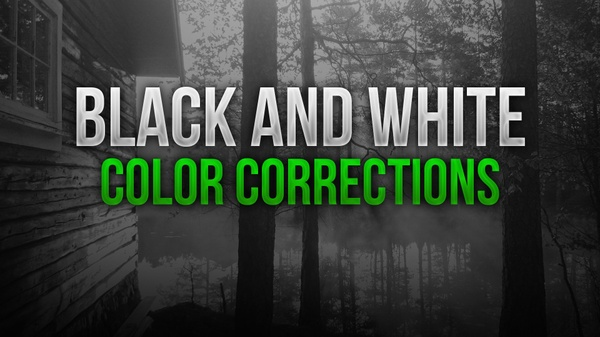 Black and White  Photoshop Color Correction Pack
