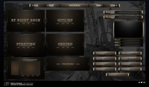 Twitch Package Western Style