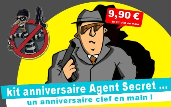 (4/7 ans) Kit anniv. Agent Secret & le robot