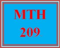 MTH 209 Week 4 MyMathLab Study Plan for Week 4 Checkpoint