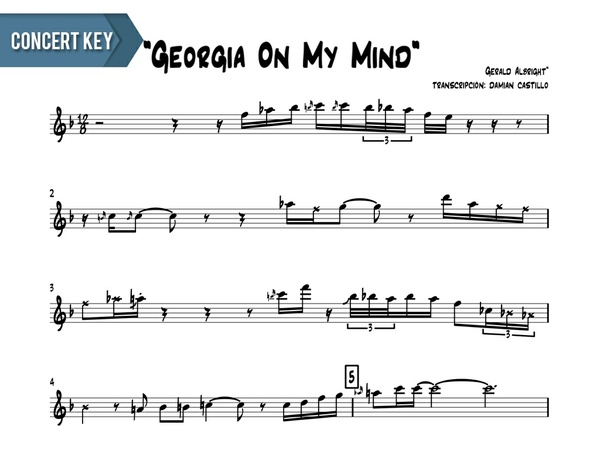 "Gerald Albright - ""Georgia On My Mind (Live At The Montreux Jazz Fest)"" Concert Key"