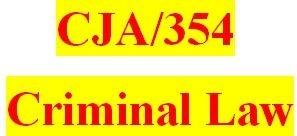CJA 354 Week 4 Rough Draft for Final Paper