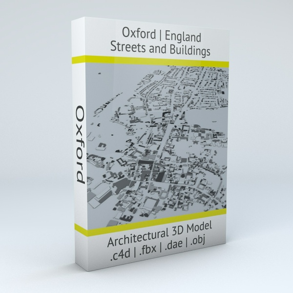 Oxford Streets and Buildings Architectural 3D Model