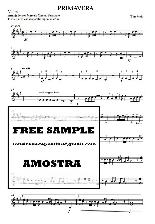 Primavera - Tim Maia Violino - Partitura.pdf