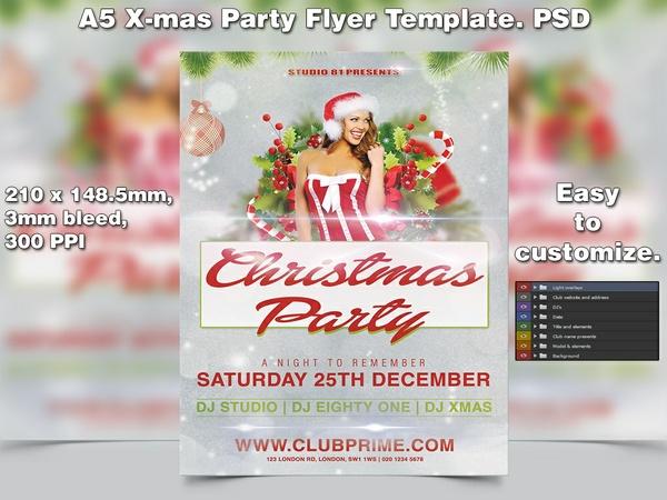 X-mas Flyer Template 5 (A5 PSD)