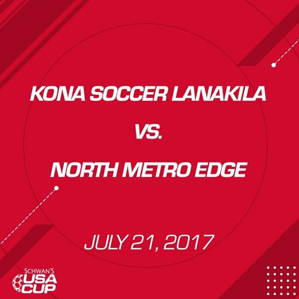Girls U14 Silver - July 21, 2017 - Kona Soccer Lanakila vs North Metro Edge