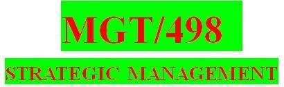MGT 498 Week 3 Individual Environmental Scan Paper