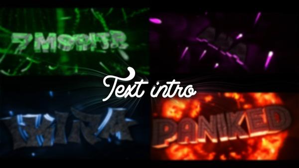 INTRO TEXTO (1080P 60FPS)      || ⬇ PRECIOS ⬇ ||