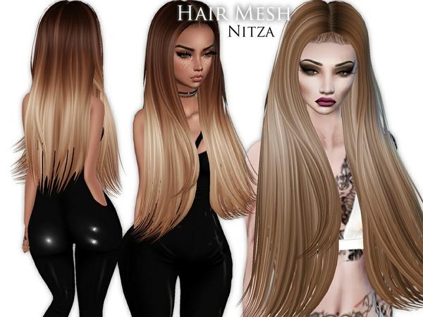 IMVU Mesh - Hair - Nitza