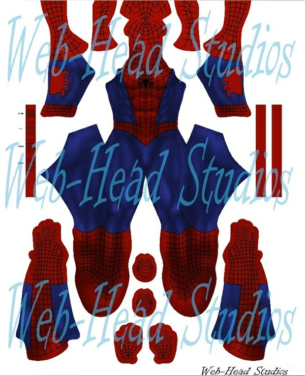 Classic Comic Spider-Man (with brick patterns)