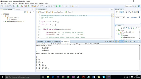 Program to produce shapes out of Unicode characters Solution