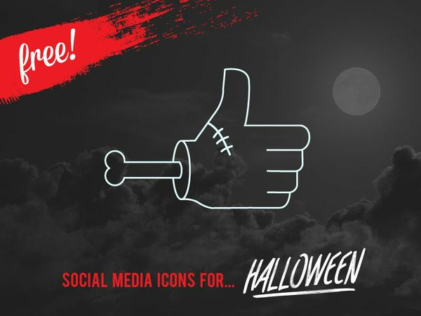FREE VECTOR HALLOWEEN SOCIAL MEDIA ICONS
