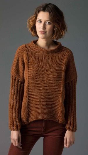Garter Rib Knit Pullover