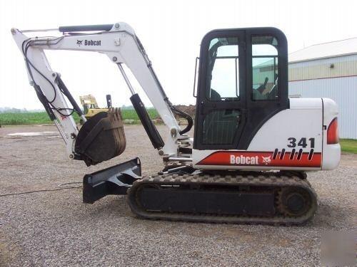 Bobcat 337, 341 Compact Excavator Service Repair Manual DOWNLOAD (S/N AAC811001 & Above...)