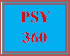 PSY 360 Week 4 One minute paper