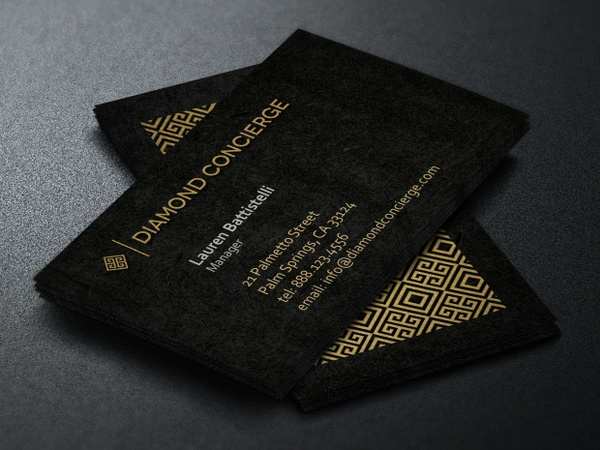 Concierge Business Card Template