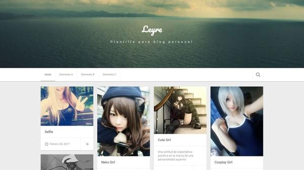 Leyre.xml v2.0.24 - Plantilla para blog personal, Blogger