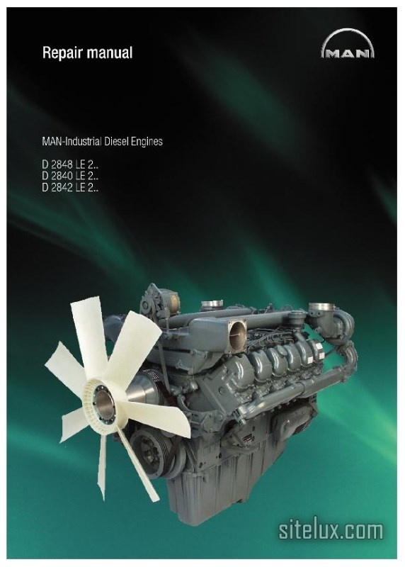 MAN Industrial Diesel Engine D2848 LE 2.. D2840 LE 2.. D2842 LE 2.. Repair Manual