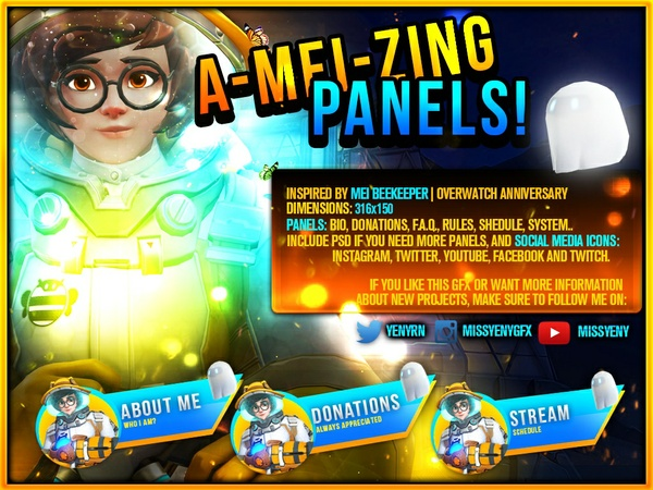 Twitch Panels Mei Overwatch Inspiration