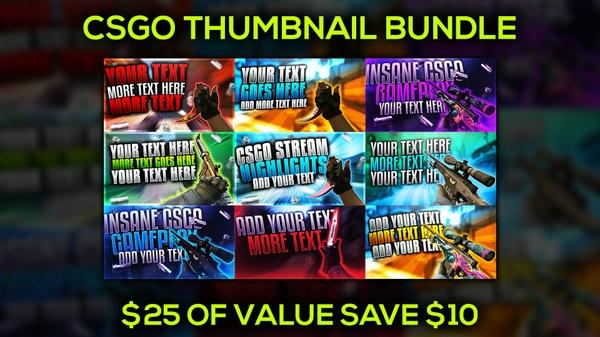 CSGO Thumbnail Template Bundle Pack