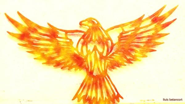 Aguila de fuego de un artista de can planas retoke lluis betancort