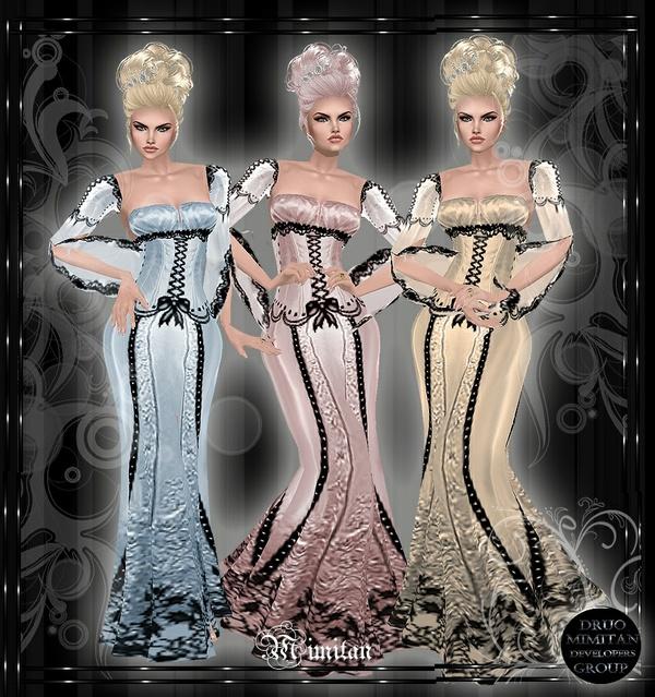 3 Dresses Antique