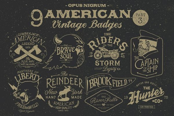 American Vintage Badges Part.3