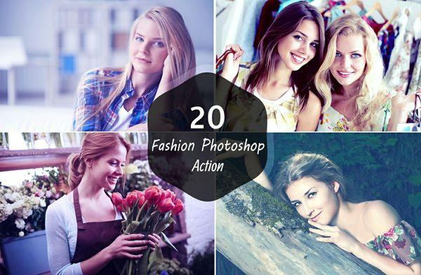 20 Premium Fashion Photoshop Action