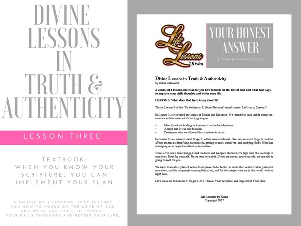 Divine Lessons in Truth & Authenticity - Textbook: Lesson 3: Know Your Scripture and Implement Plans