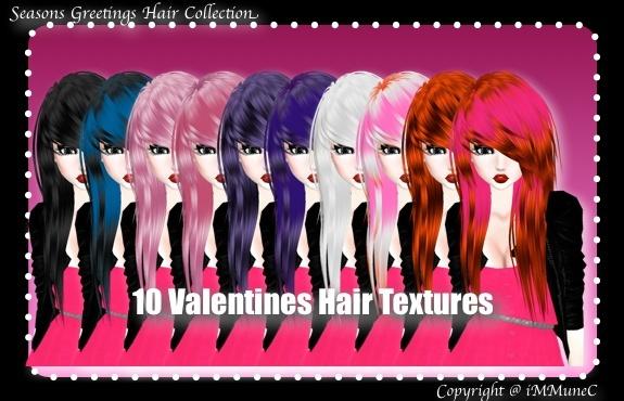10 Valentine's Hair Textures (SG)