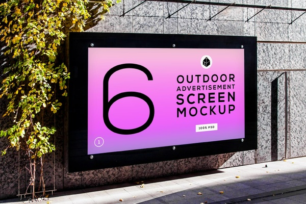 Outdoor Advertising Screen Mock-Ups 4