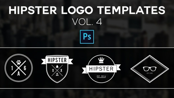 Free Hipster Logo Templates Vol.4