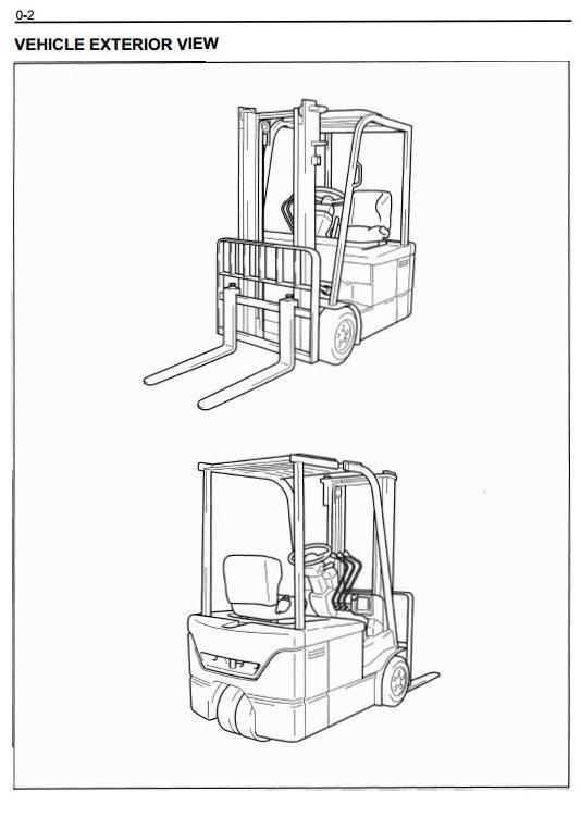 Toyota Electric Forklift Truck 7FBEHU18, 7FBEU15, 7FBEU18, 7FBEU20 Workshop Service Manual