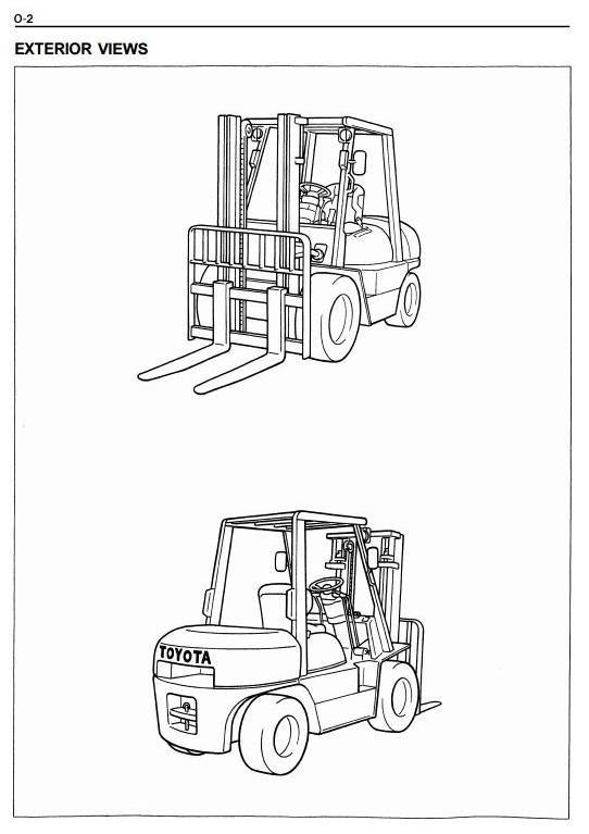 Toyota LPG Forklift Truck 6FGU33, 6FGU35, 6FGU40, 6FGU45, FGAU50 Workshop Service Manual