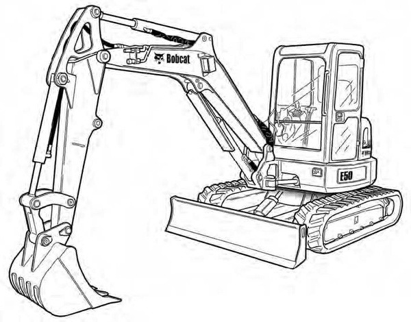 Bobcat E50 Compact Excavator Service Repair Manual Download(S/N AG3N11001 & Above AHHE11001 & Above)