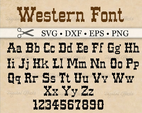 WESTERN FONT SVG FILES