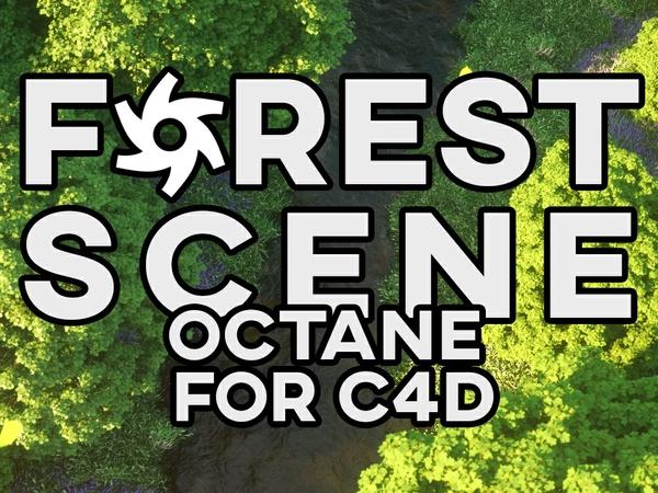 Forest Scene TUTORIAL - C4D x Octane Render V3