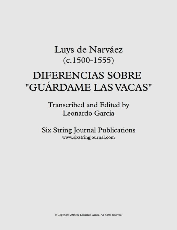 Diferencias sobre Guárdame las Vacas (Narváez) SSJE0113
