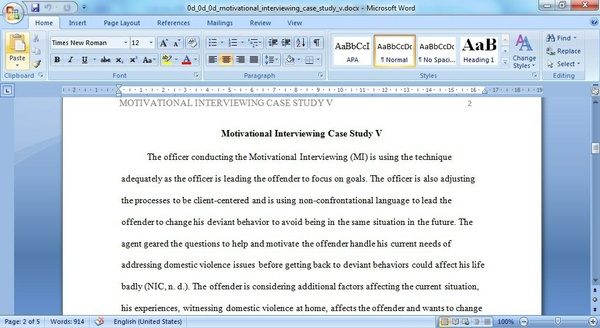 Case Study Interview: Unit V