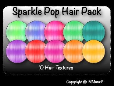 10 Sparkle Pop Hair Textures
