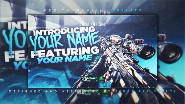 BO2 Thumbnail Template v1 PSD by Times & Sparta