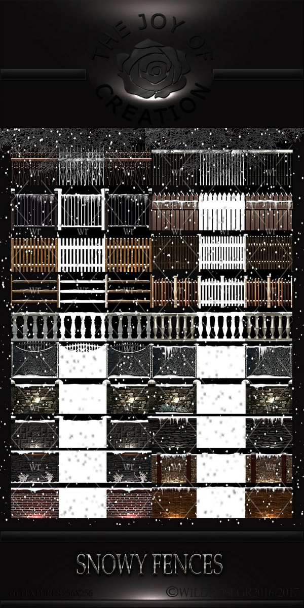 "WINTER TIME "" SNOWY FENCES """