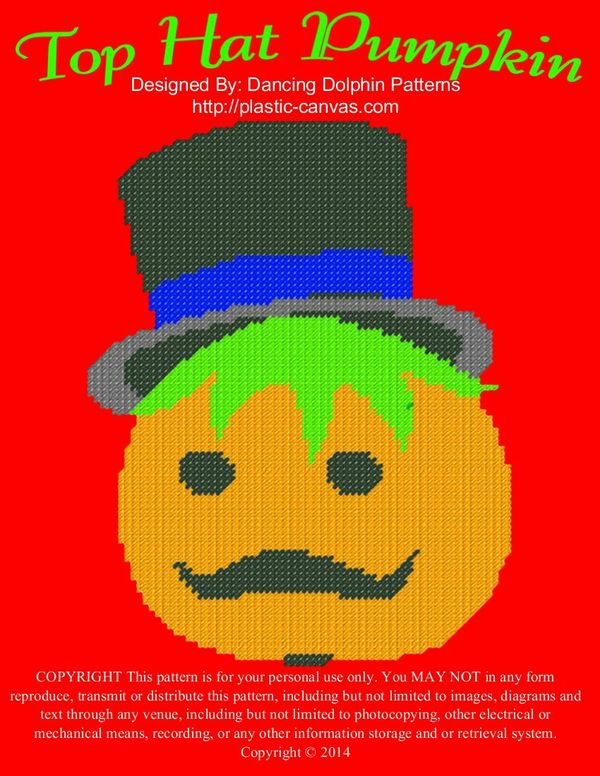 593 - Top Hat Pumpkin