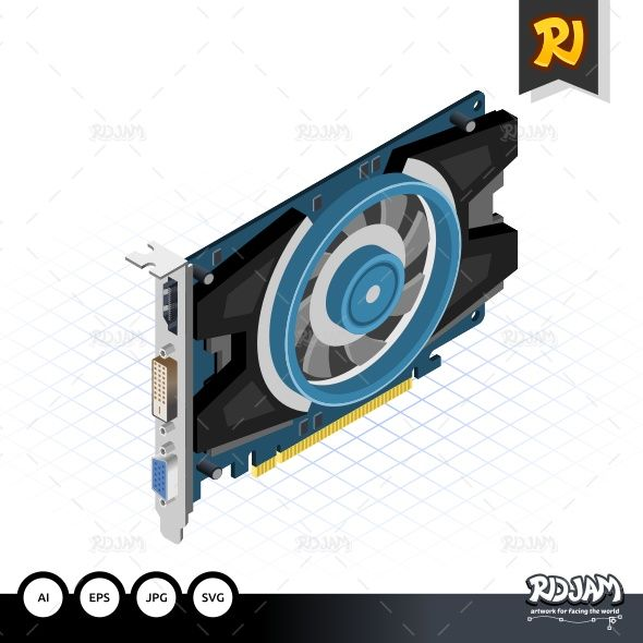 Isometric Graphic Card
