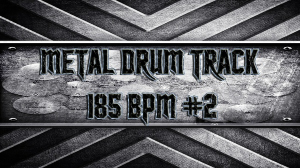 Metal Drum Track 185 BPM #2