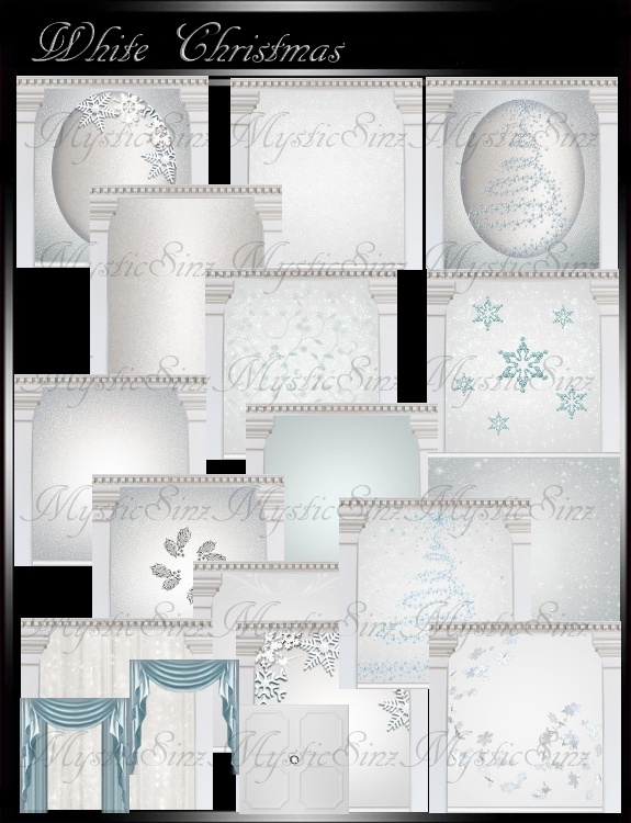 IMVU White Christmas Room Collection