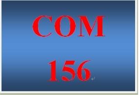 COM 156 Week 3 APA Formatting