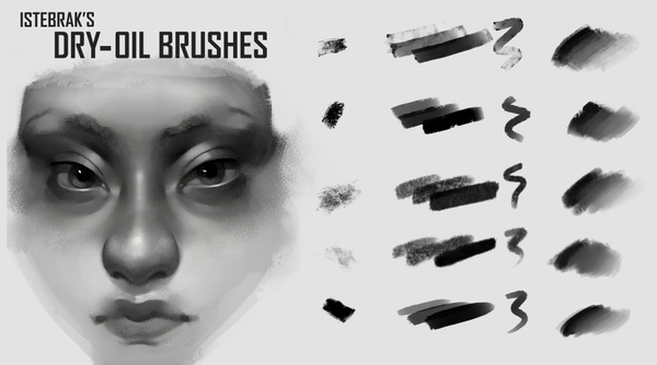 Istebrak's Dry-Oil Brushes for Photoshop